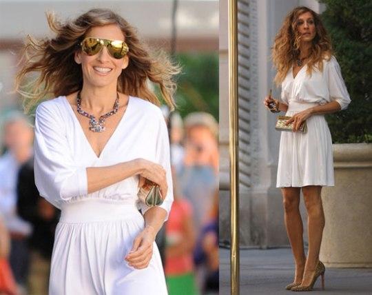 vestido branco carrie bradshaw caftan