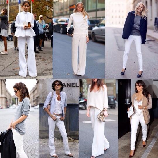 look calça branca mulheres