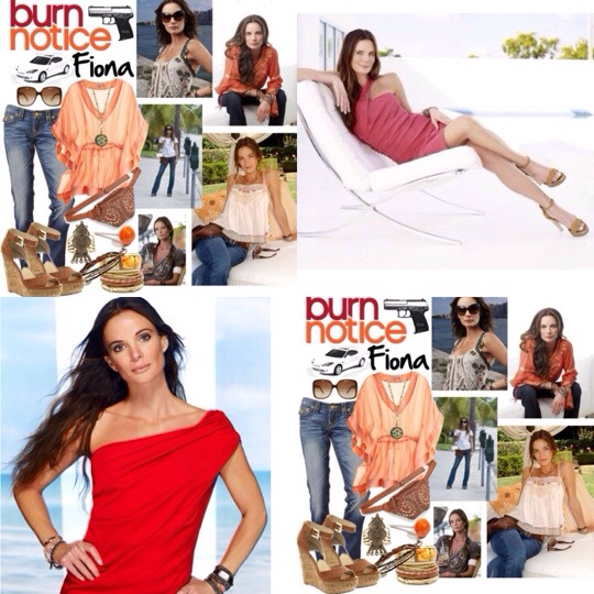 estilo fiona burn notice