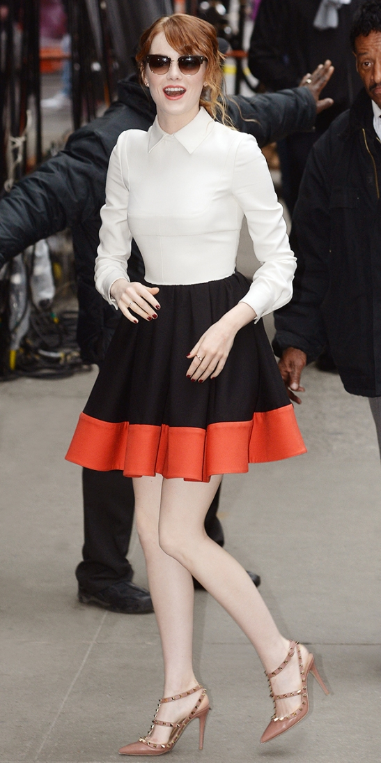 colorblock emma stone