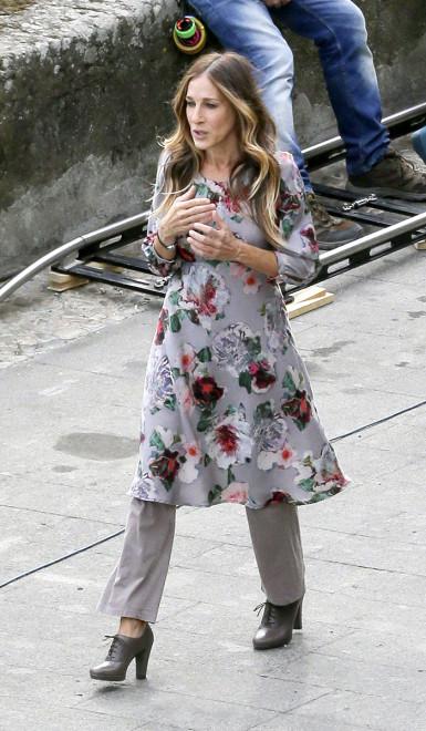 sarah jessica parker vestido com calça
